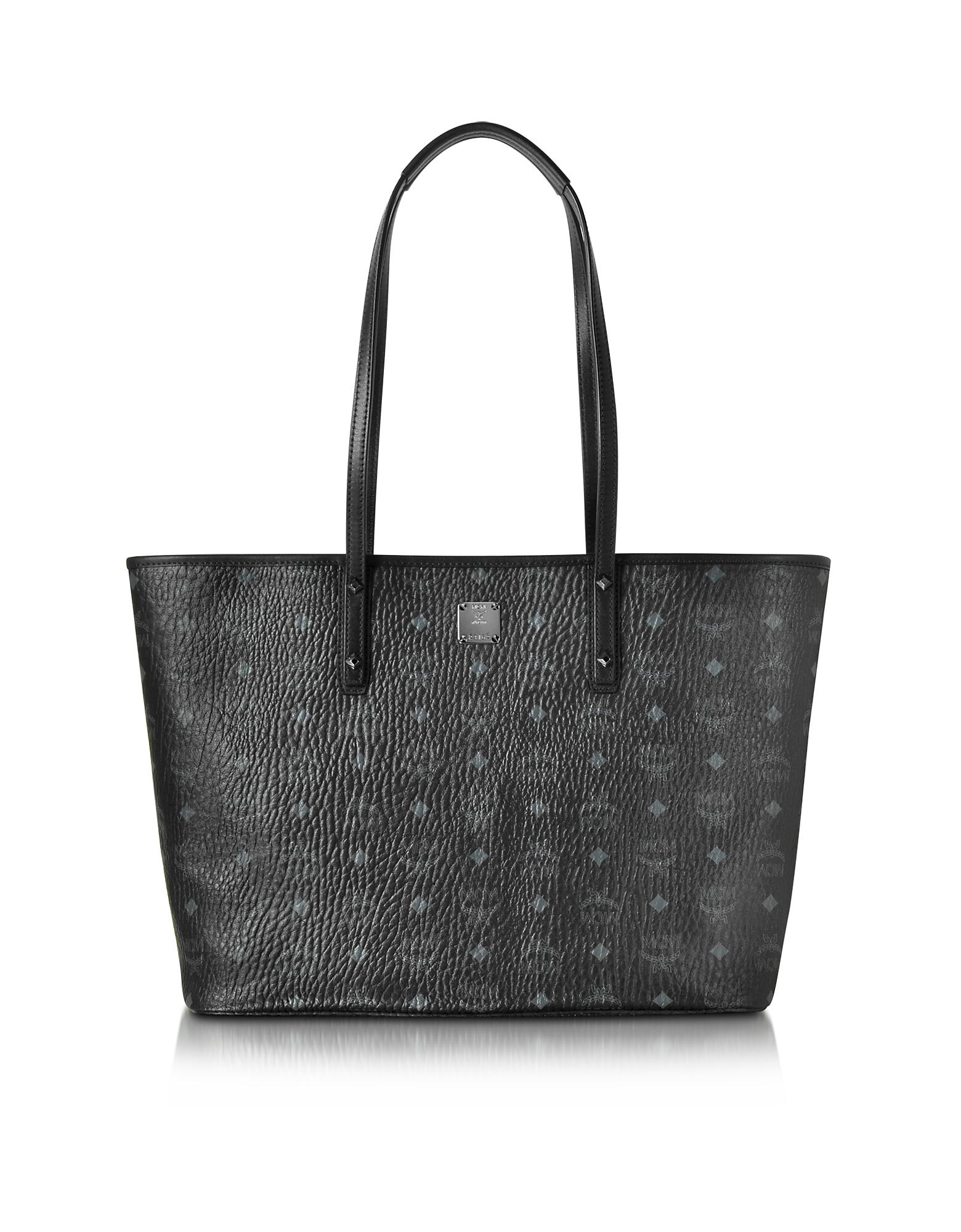 MCM Handbags, Anya Black Top Zip Medium Shopping Bag