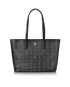 Anya Black Top Zip Medium Shopping Bag - MCM