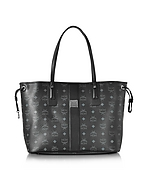 MCM Shopper Project Visetos Liz Medium Shopper Nera Reversibile - mcm - it.forzieri.com