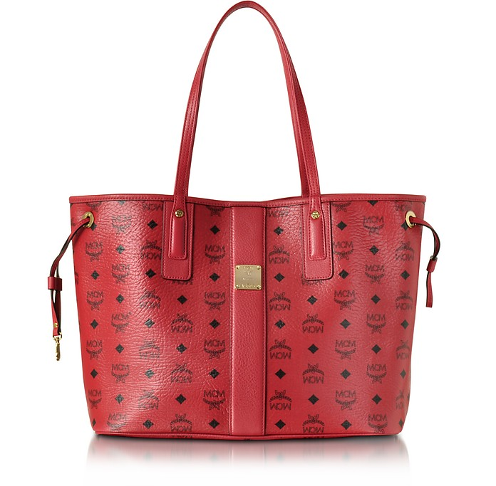 Ruby Red Shopper Project Visetos Liz Reversible Medium Tote - MCM