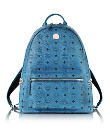 Munich Blue Medium Stark Backpack - MCM