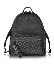 Black Nylon Tumbler Rombi Medium Backpack - MCM