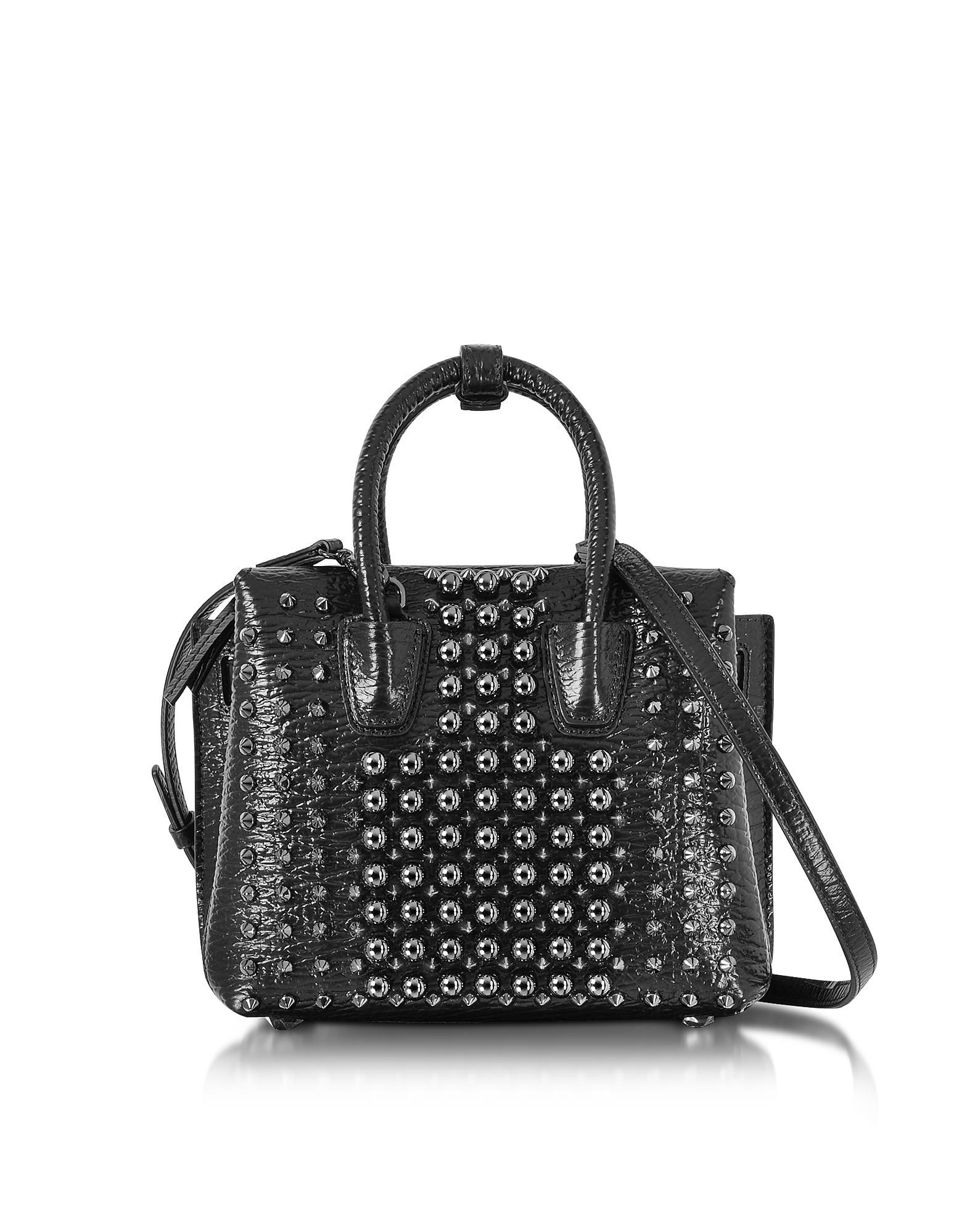 MCM Handbags, Black Mini Milla Pearl Studs Tote Bag