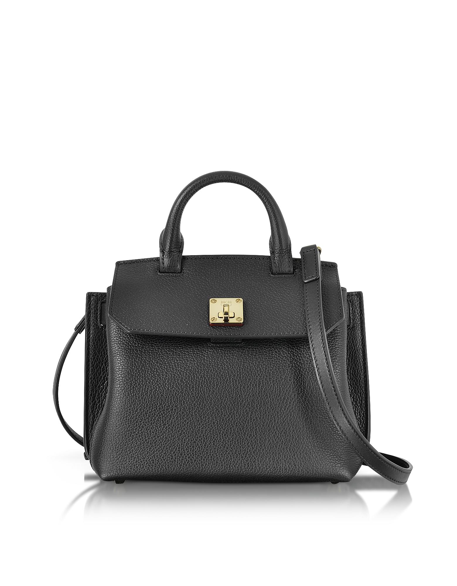 MCM Handbags, Black Park Avenue Leather Milla Small Crossbody