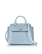 MCM Milla Park Avenue Small Crossbody in Pelle Sky Blue - mcm - it.forzieri.com