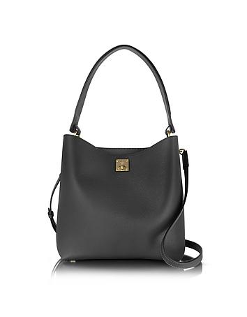 MCM - Black Milla Medium Hobo Bag