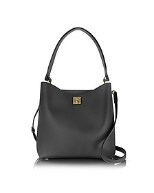 Black Milla Medium Hobo Bag - MCM