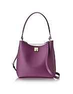 MCM Milla Medium Hobo Borsa in Pelle Mystic Purple con Tracolla - mcm - it.forzieri.com
