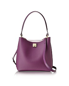 Mystic Purple Milla Medium Hobo Bag - MCM