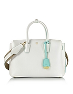 MCM Milla Medium Borsa a Mano in Pelle White Flake - mcm - it.forzieri.com