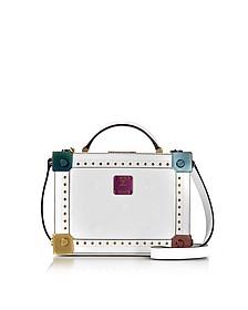Berlin White Patent Leather Small Crossbody Bag - MCM