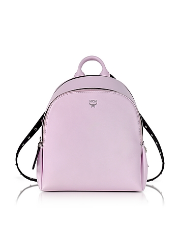 MCM - Pink Leather Polke Studs Mini Backpack