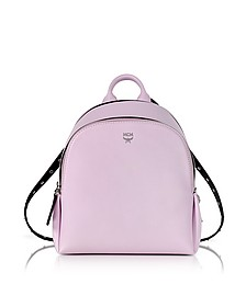 Pink Leather Polke Studs Mini Backpack - MCM
