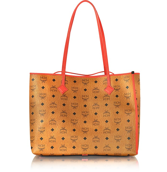 Kira Visetos EW Cognac Medium Shopper - MCM