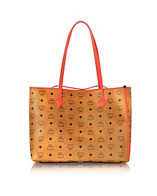 Kira Visetos EW Cognac Medium Shopper - MCM
