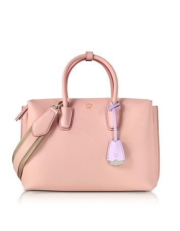 Milla Pink Blush Leather Medium Tote Bag cm130218-030-00