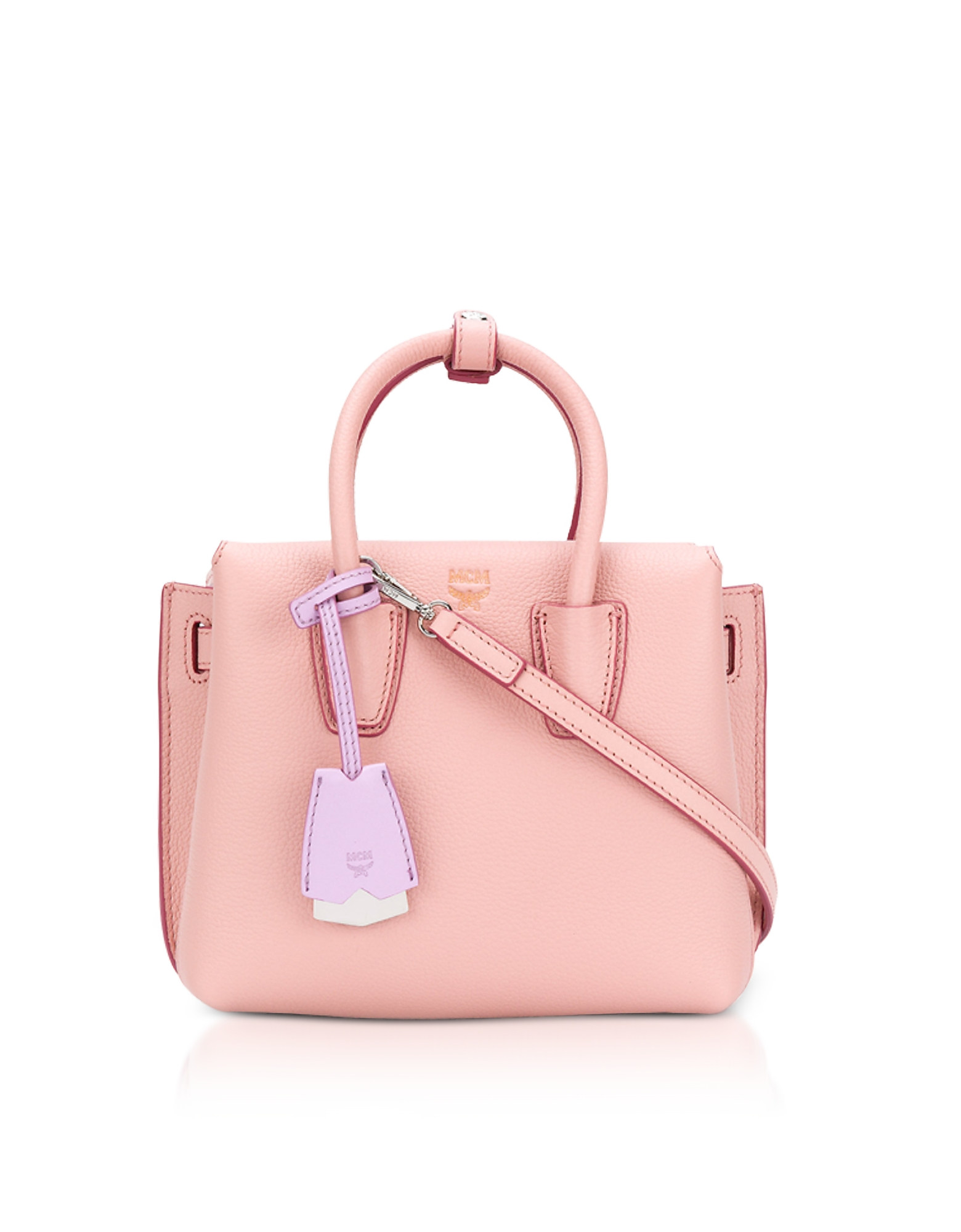 Milla Pink Blush Leather Small Tote Bag
