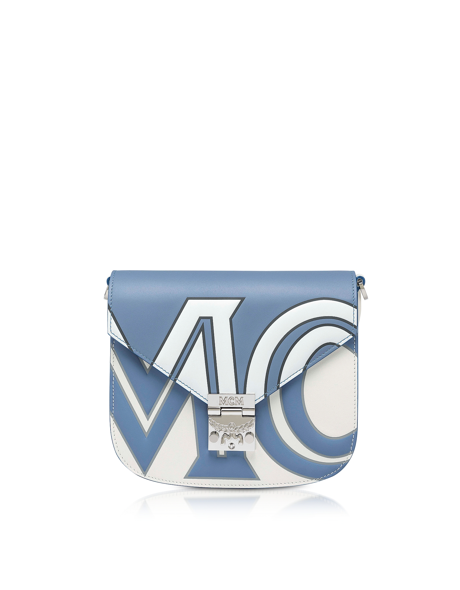 MCM Designer Handbags, Small Patricia Contrast Logo Shoulder Bag