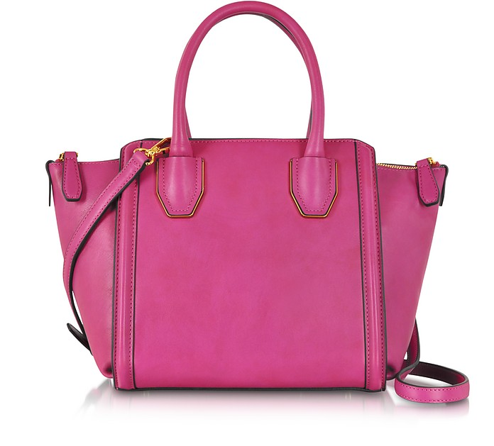 Christina Shocking Pink Small Leather Tote - MCM