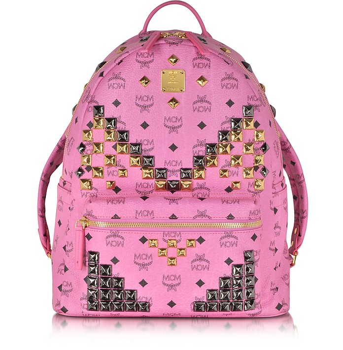 Pink Medium Stark Backpack - MCM