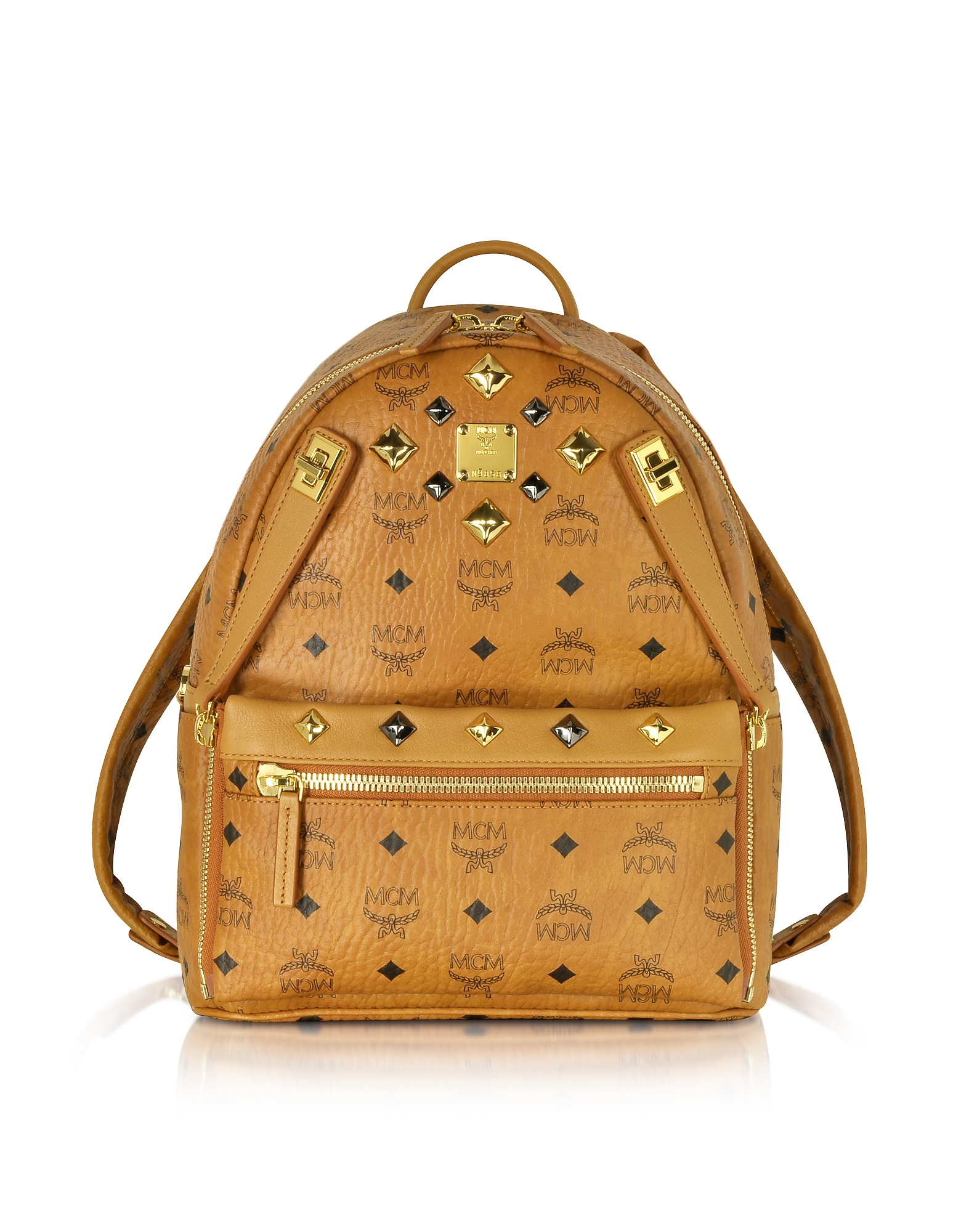 MCM Handbags, Cognac Small Dual Stark Backpack