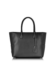 Munich Black Leather Medium Shopper - MCM