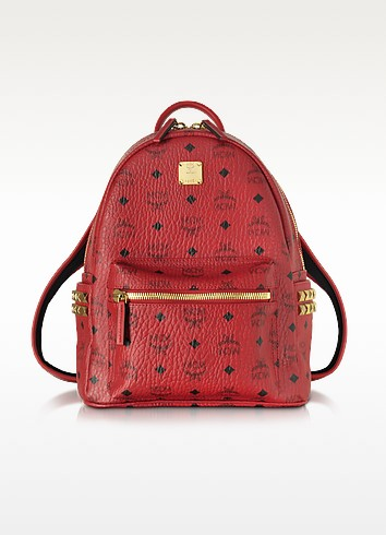 Stark Ruby Red Small Backpack - MCM