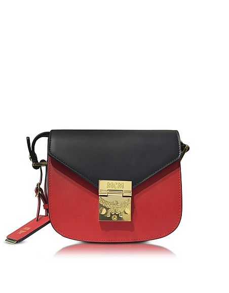 Foto MCM Patricia Mini Borsa con Tracolla in Pelle Color Block Borse donna