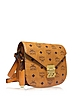 Patricia Visetos Cognac Small Shoulder Bag  - MCM