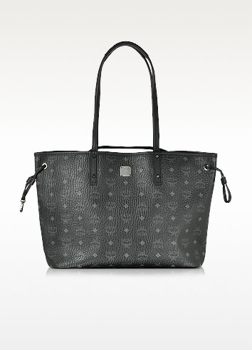 Shopper Project Visetos Black Medium Reversible Tote - MCM