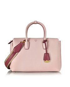 Milla Pale Mauve Leather Medium Tote - MCM