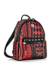 Stark Baroque Print Ruby Red Small Backpack - MCM