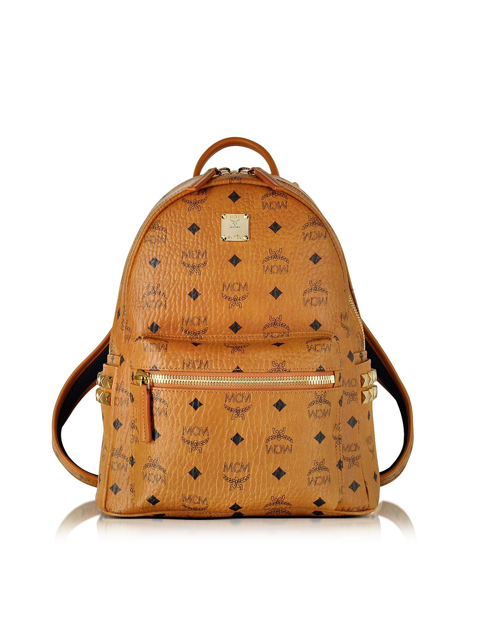 MCM Designer Handbags, Stark Small Cognac Backpack