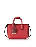MCM Milla Extra Small Bauletto in Pelle Rosso Rubino - mcm - it.forzieri.com
