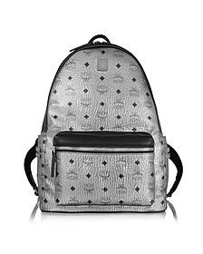 Silver Stark Medium Backpack - MCM