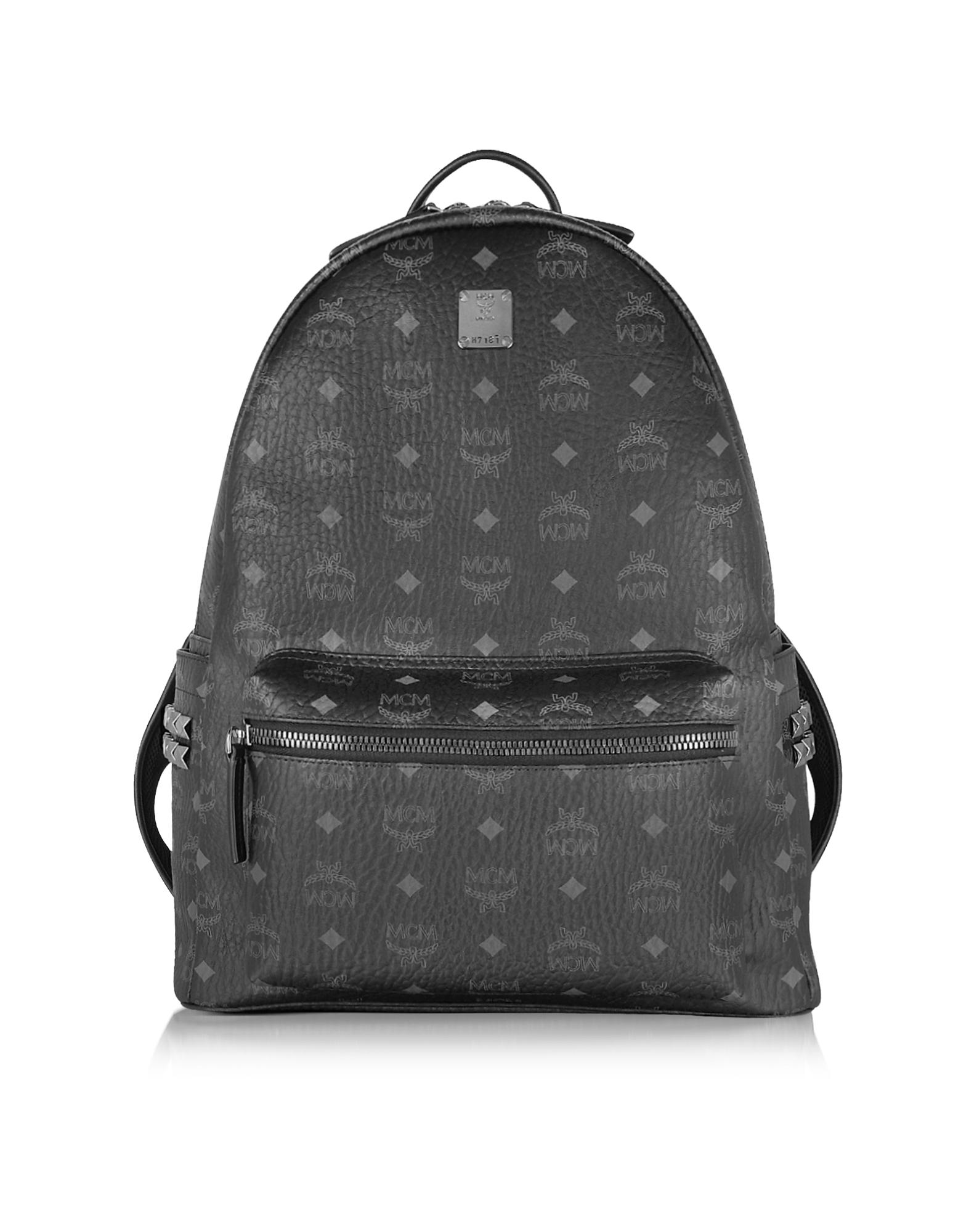 MCM Handbags, Black Stark Medium Backpack