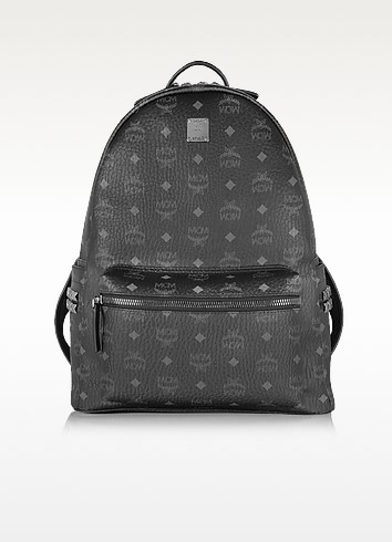 Black Stark Medium Backpack - MCM