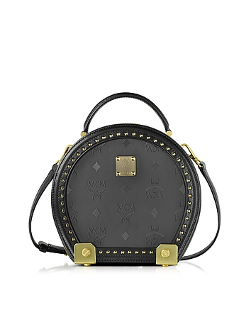 Berlin Black Hat Box Small Crossbody