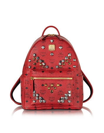 MCM - Stark Small Ruby Red Backpack