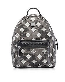 Stark Camo Print Silver Shadow Medium Backpack - MCM
