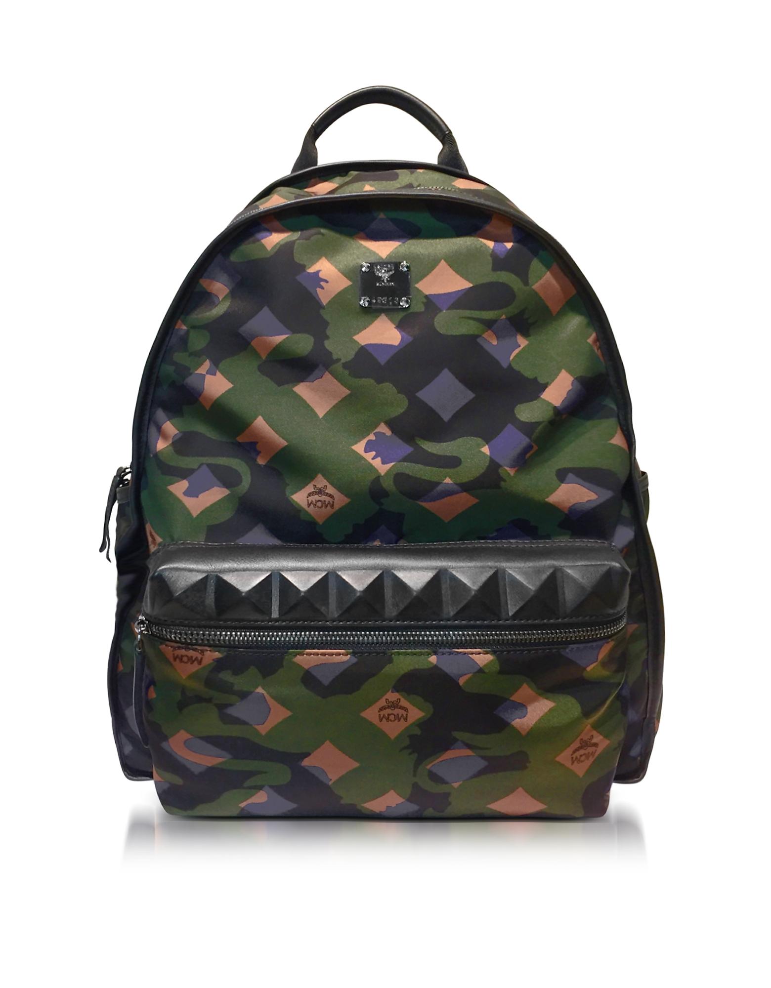 Zaino Dieter Camo Backpack in Nylon Verde Loden