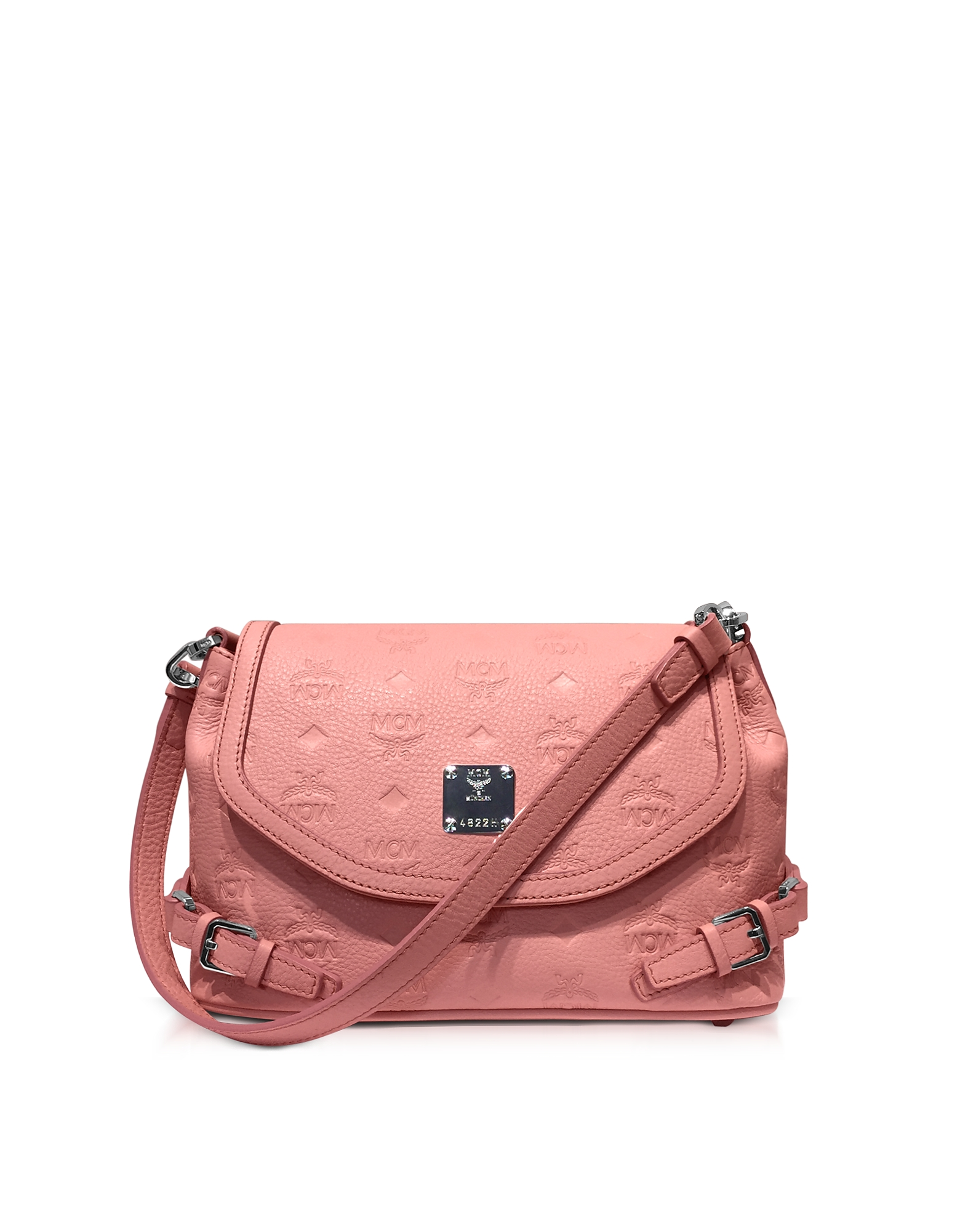 MCM Handbags, Pink Blush Signature Monogrammed Leather Small Crossbody Bag