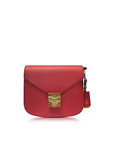 Small Ruby Tan Leather Patricia Park Avenue Shoulder Bag - MCM