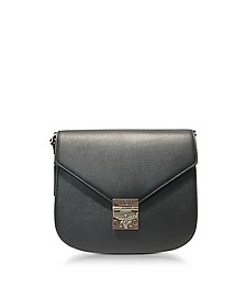 Patricia Park Avenue Medium Black Leather Shoulder Bag - MCM