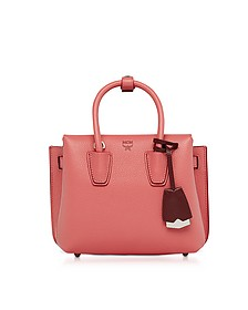 Milla Coral Pink Park Avenue Leather Mini Tote - MCM