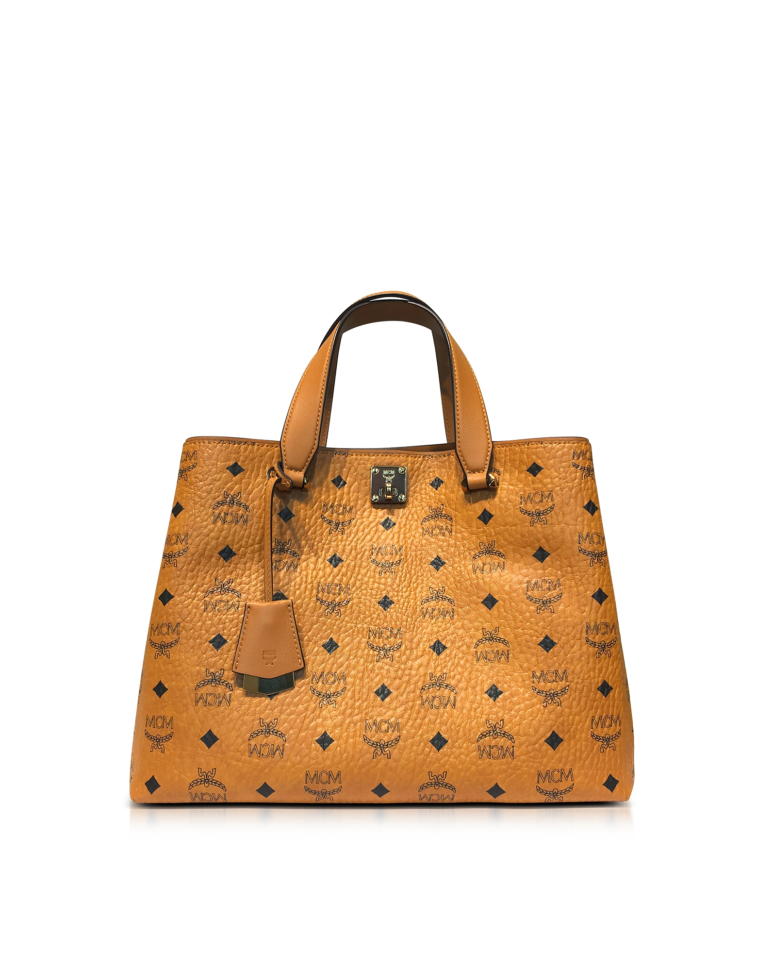 MCM Handbags, Large Cognac Signature Visetos Original Tote