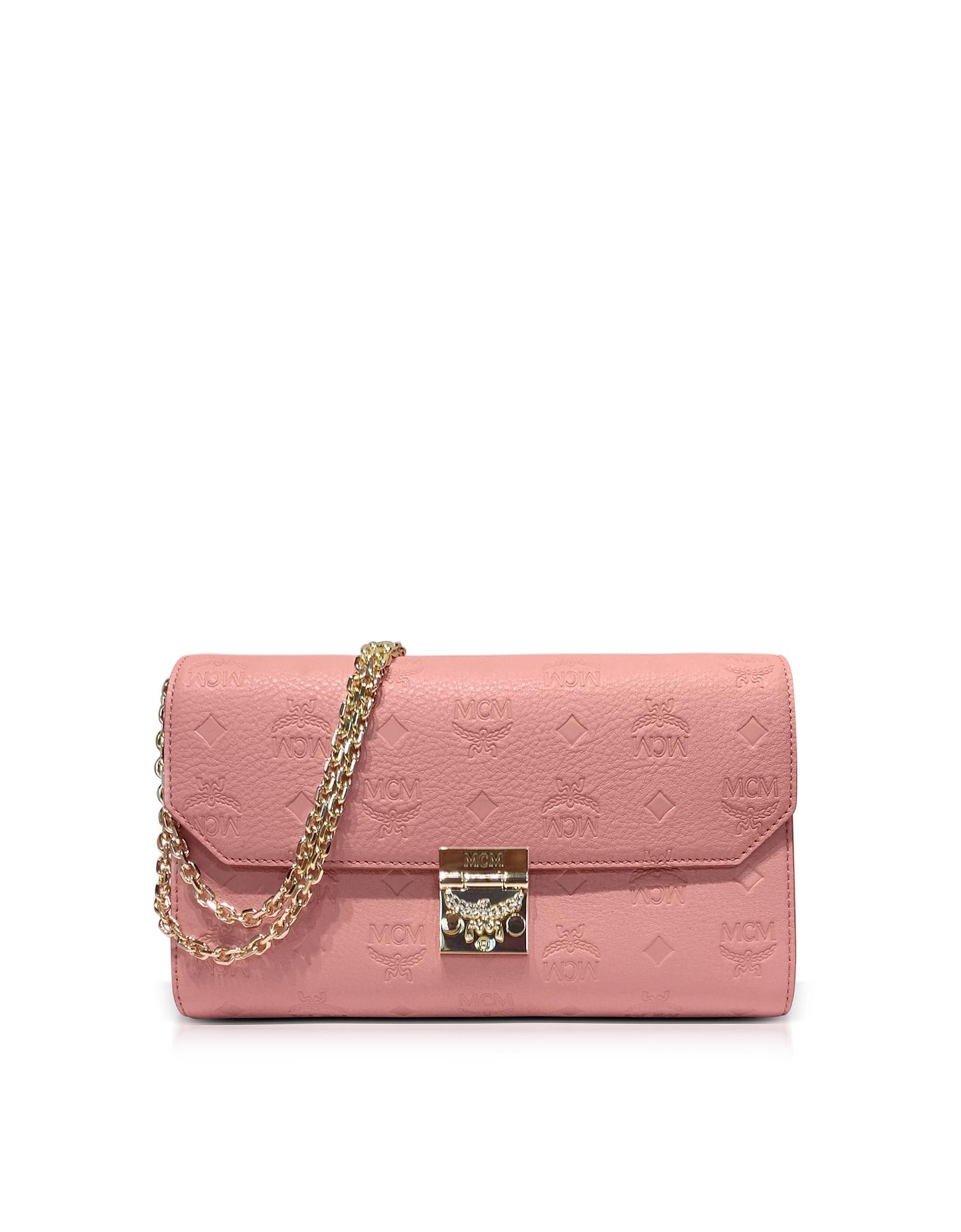 Фото Millie - Светло-розовая Сумка Через Плечо Среднего Размера из Кожи с Монограммами. Купить с доставкой