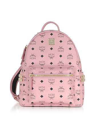 MCM - Soft Pink Small Stark Backpack