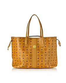 Cognac Shopper Project Visetos Liz Reversible Large Tote - MCM