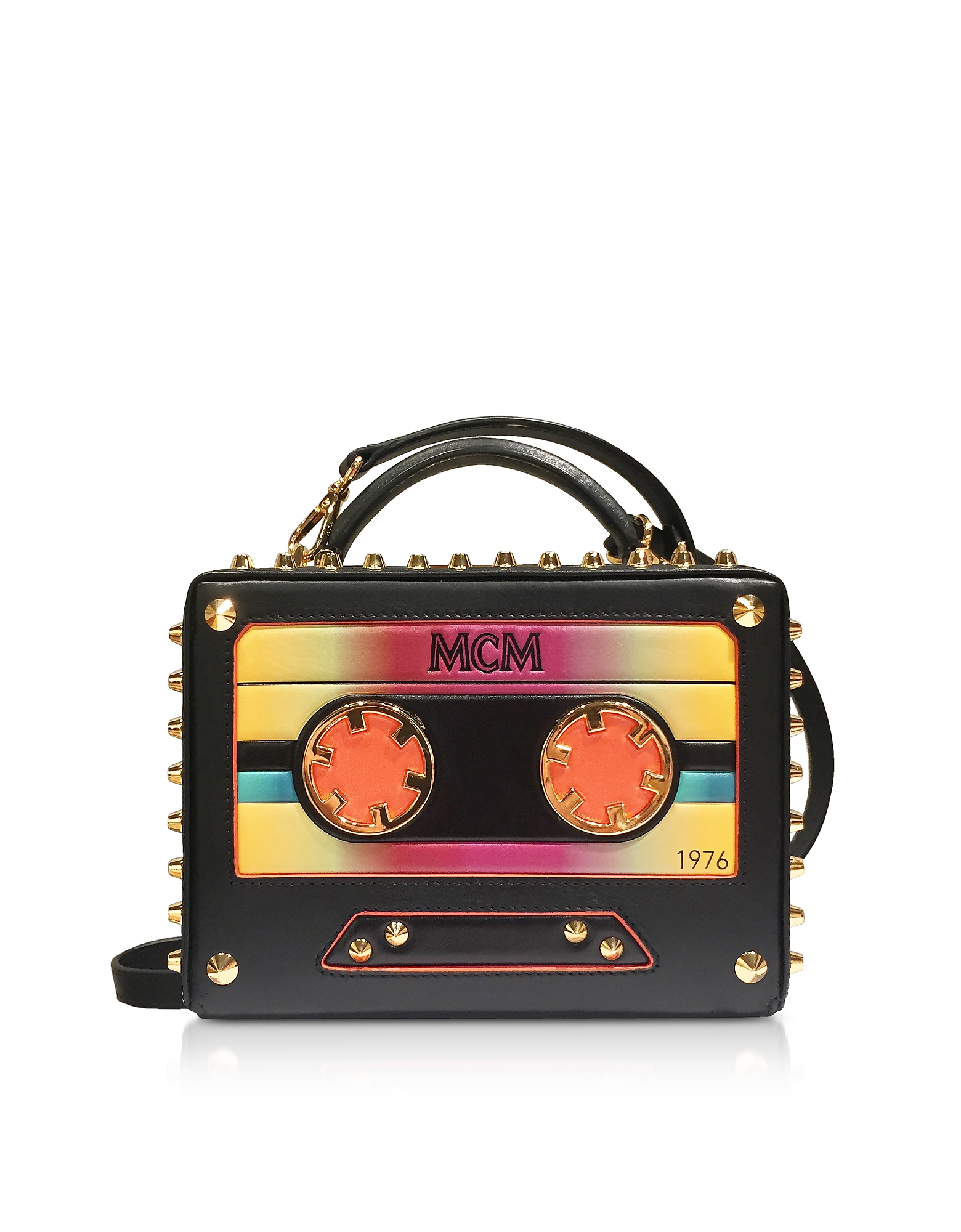 Berlin Cassette Clutch in Pelle con Tracolla